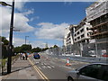 ST1876 : NATO conference security fencing, Kingsway,Cardiff by John Lord