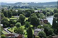 SO5139 : View to Castle Green, Hereford by Philip Halling