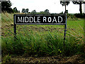 TM3188 : Middle Road sign by Geographer