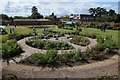 SO8844 : Rose garden in Croome Walled Garden by Philip Halling