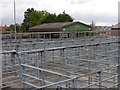 TF3286 : Animal pens in Louth cattle market by Graham Hogg