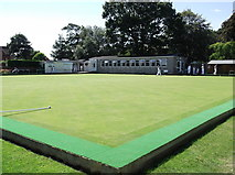 ST3049 : Burnham On Sea Bowls Club by andrew auger