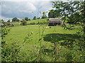 NY6615 : Field and barn at Drybeck by David Medcalf