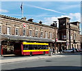 SJ4166 : Inter-the-City bus outside Chester railway station by Jaggery