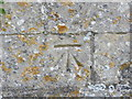 TL1272 : Ordnance Survey Cut Mark by Peter Wood