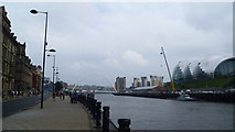 NZ2563 : Scene at the Quayside in Newcastle upon Tyne by Jeremy Bolwell