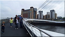 NZ2564 : On the Gateshead Millennium Bridge in August by Jeremy Bolwell