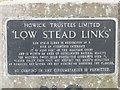 NU2516 : Information sign at Low Stead Links by Graham Robson