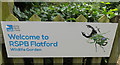 TM0733 : RSPB Flatford Wildlife Garden sign by Adrian Cable