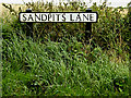 TM0436 : Sandpits Lane sign by Adrian Cable