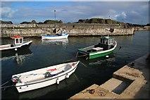 D0345 : Fishing boats in Ballintoy Harbour by Bob Jones