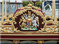 "TQ3380 : Coat of Arms on the ""Gloriana"" at  St Katharine Docks, London E1 by Christine Matthews"