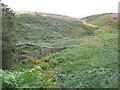 SE1802 : Sheepfolds at Lower Cat Clough by John Slater