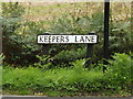TL9637 : Keepers Lane sign by Adrian Cable