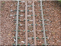 NT3271 : Railway line sleepers and ties by M J Richardson