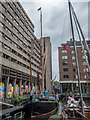 "TQ3380 : Thames Barge ""Gladys"", St Katharine Docks, London E1 by Christine Matthews"