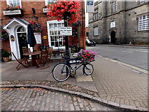 SK4003 : Flower-decked bicycle in Market Place, Market Bosworth by Jaggery