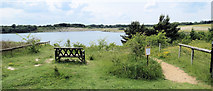 SP9314 : A Seat with a View at College Lake by Chris Reynolds