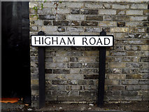 TM0434 : Higham Road sign by Adrian Cable
