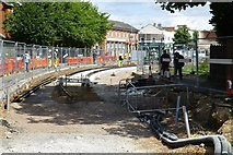 SK5236 : Tram track laying on Chilwell Road by David Lally