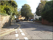 TQ2160 : Church Street at the junction of Grove Road, Epsom by David Howard