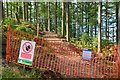NT2438 : North end of new path, Cademuir Forest by Jim Barton