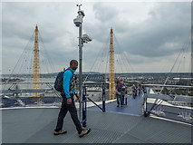 TQ3980 : Up the O2 Viewing Platform, O2 Arena, Greenwich by Christine Matthews