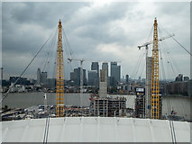 TQ3880 : Up the O2 Viewing Platform, O2 Arena, Greenwich by Christine Matthews