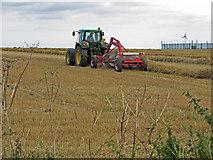 TA0114 : Turning Straw near Worlaby by David Wright