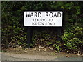 TM1242 : Ward Road sign by Adrian Cable