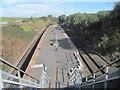 SJ9195 : Denton railway station, Greater Manchester by Nigel Thompson