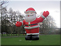 SP9313 : Santa greets you at the Bulbourne Garden Centre by Chris Reynolds