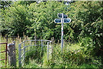 TQ4443 : Footpath junction on the Roman Road by N Chadwick