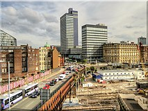 SJ8499 : Manchester, Cheetham Hill Road and Co-op Buildings by David Dixon