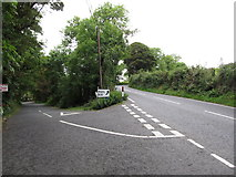 H9618 : Drumalt Road at its junction with the B30 north of Silverbridge by Eric Jones