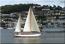 SX8751 : Yacht, Dartmouth Regatta by Derek Harper