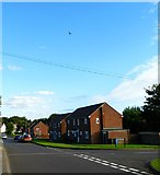 SU7349 : Looking along Kersley Crescent with glider above by Shazz