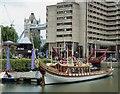 "TQ3380 : Royal Barge ""Gloriana""  at St Katherine Dock (3) by Rob Farrow"