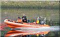 J3473 : Fire Brigade rescue boat, River Lagan, Belfast - September  2014(1) by Albert Bridge