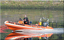 J3473 : Fire Brigade rescue boat, River Lagan, Belfast - September  2014(1) by Albert Bridge