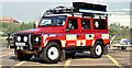 J3473 : Fire Brigade Land Rover, Belfast (September  2014) by Albert Bridge