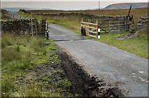 SD7056 : Cattle Grid at Merrybent Hill by Tom Richardson