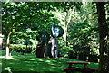 TQ2479 : Elephant statues, Holland Park by N Chadwick