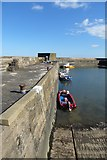 NU2520 : Craster Harbour by DS Pugh