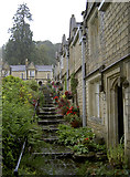ST7693 : Steps up the almshouses by Neil Owen