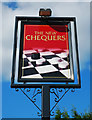 SO8656 : The New Chequers (2) - sign, 129 Astwood Road, Worcester by P L Chadwick