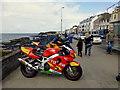 C8138 : Line of motorbikes, portstewart by Kenneth  Allen