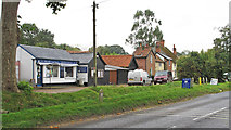 TM3569 : Shops and buildings in Chapel Street, Peasenhall by Roger Jones