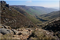 SK1087 : View from top of Grindsbrook path by Peter Barr