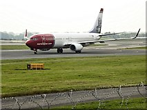 SJ8184 : Norwegain Air Shuttle at Manchester Airport by David Dixon